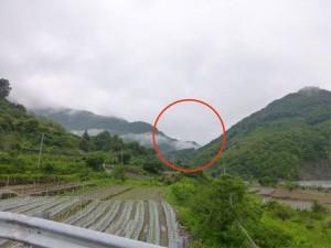 山の向こうが蘆山温泉